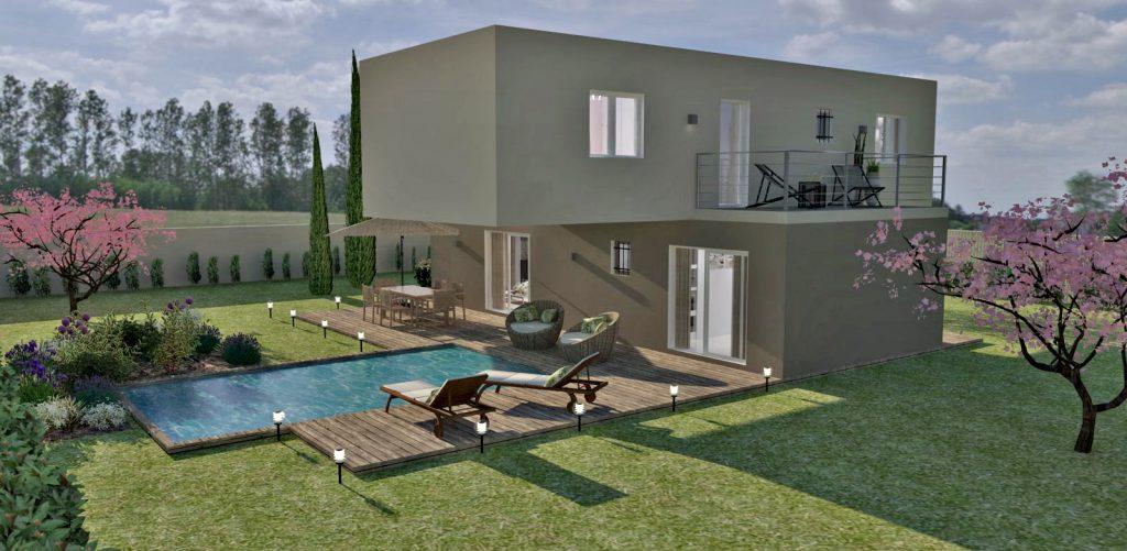 Villa design tage de 110 m maison eco 3 for Villa interieur design